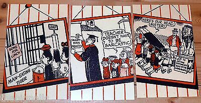 The Bash Street Kids 3  POSTCARDS art 1957  by Leo Baxendale new