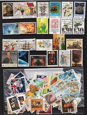 1984 To 1988 100 Australian Stamps  All Different  Used