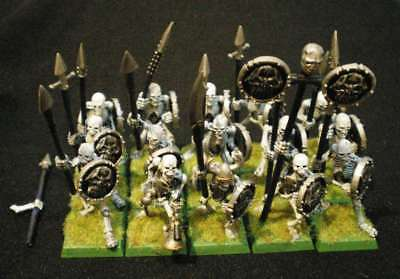 Classic OOP Undead -- SKELETON WARRIORS REGIMENT with SPEARS -- built & painted