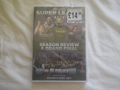 """LEEDS RHINOS dvd SUPER LEAGUE season review + grand final 2015 """" NEW AND SEALED"""""""