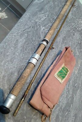 Vintage Accles and Pollock Apollo tubular steel 2 piece fly rod The Wye