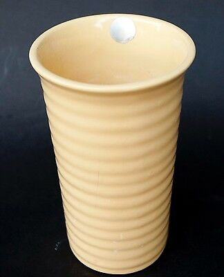 "Vintage 2000 Bauer Ring Vase, 7"", Yellow,"