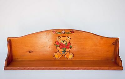 Vintage Childs Book Toy Shelf Wood Hand Painted