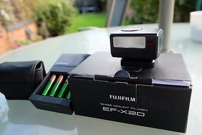 Fujifilm EF-X20 Shoe Mount Flash with six rechargeable batteries and charger