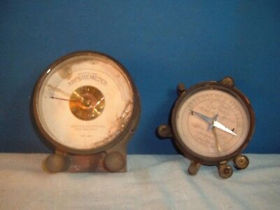 BRASS METERS WAITE & BARTLETT and QUEEN Co. Electric Millimeter Ampere