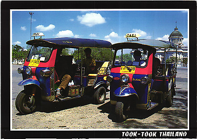 Motorcycle taxi Three weels vehicle Thailand Postcard