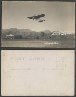 Mexico Monoplane Gurros Flight In The Mexican Revolution Old Real Photo Postcard