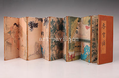 Chinese Vintage Great Men Women Love Painting Replica Collectable