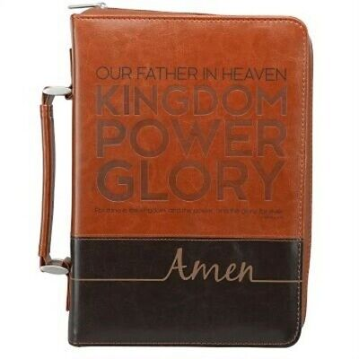 Bible Cover Lux-Leather Lord's Prayer - Large