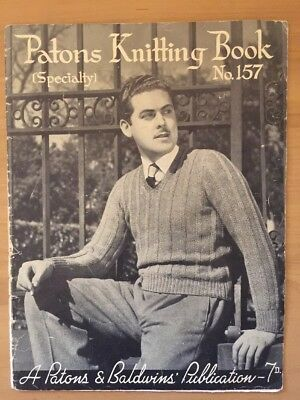 Patons & Baldwins Specialty Vintage  Knitting Pattern book no.157