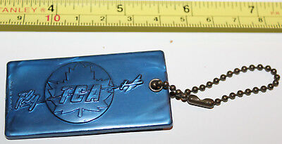 Trans-Canada Air Lines Airline TCA Plastic Blue Identification Luggage Tag