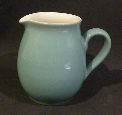 Denby 1/2 PT JUG / CREAMER TEAL BLUE / GREEN & CREAM