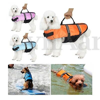 XXS Dog Pet Life Jacket Adjustable Buoyancy Swimming Vest Preserver Aid Safety