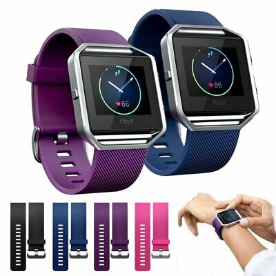 Replacement Silicone Gel Wrist Band Watch Strap Bracelet +Frame For Fitbit Blaze