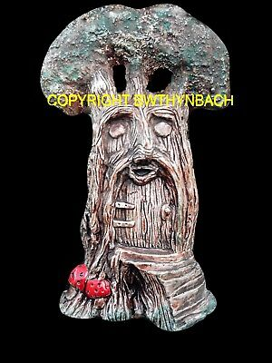 New Rubber Latex Mould Moulds Mold To Make Cement Fairy Fairie Tree Door Face 2