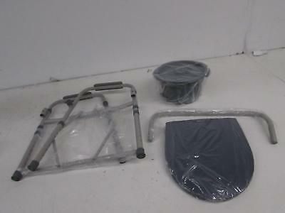 Medline Guardian G30213-1F Deluxe Bedside Commode/Toilet Seat/Safety Rails