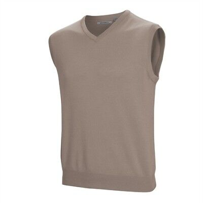 Ashworth Mens Merino Golf Vest - Latte