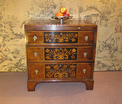 A small late 18th Century Mahogany, Marquetry inlaid Bachelors chest of drawers