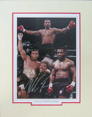 Mike Tyson signed Boxing Montage Photo Proof Mounted WBC WBA IBF Former Champion