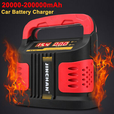 200A 12/24V AUTO Car Battery Charger Booster Van Jump Starter Power LCD 160-220V