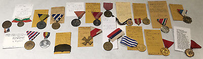 19 Old Europe Medals (Serbia Austria Hungary Italy Romania Yugo More) No Reserve