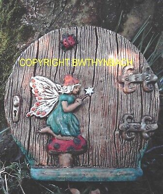 New Rubber Latex Mould Moulds Mold Fairy Faerie Door + Fairie And Ladybird