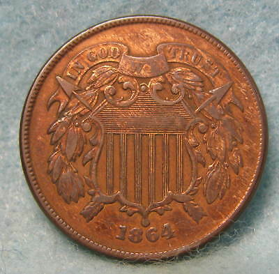 1864 Civil War Era Two Cent Piece VF * Circulated US Coin *