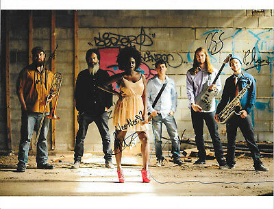 #60 The Big Takeover Reggae Band Signed Picture Auto Autograph Nee Nee Rushie