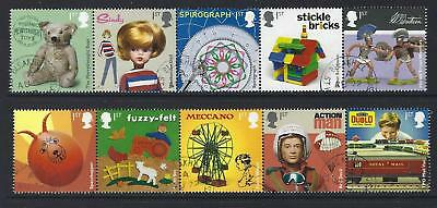 Great Britain 2017 Classic Toys  Set Of 10 In 2 Strips Fine Used
