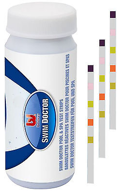 Bestway Pool & Spa 5-in-1 Test Strips for Chlorine PH Alkalinity Hardness #58247