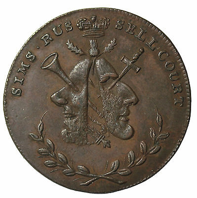 Great Britain Middlesex Sim's Halfpenny Conder Token DH-478a