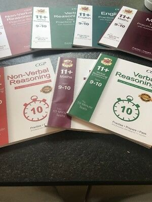 New 11+ Verbal Reasoning, Maths, English, Non Verbal CGP X 7 Books & Answers!