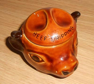 Studio Szeiler Beef Dripping Pot In The Shape Of A Cow Head Shades Of Brown