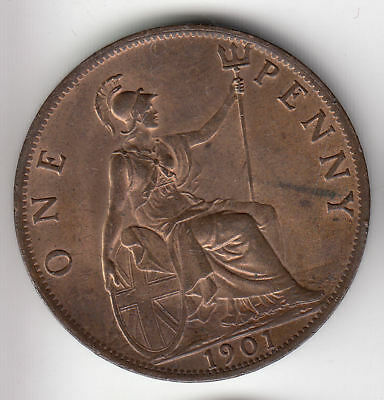 Gb 1D 1901 Copper Unc Scarce         93Z                By Coinmountain