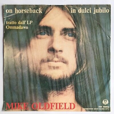 """MIKE OLDFIELD -In Dulci Jubilo- Rare Italian 7"""" with unique 'Ommadawn' Sleeve"""