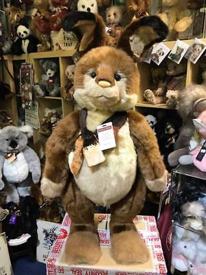 "Charlie Bears HOPKINS 30"" Standing Rabbit, Limited Edition #787 BNWT"