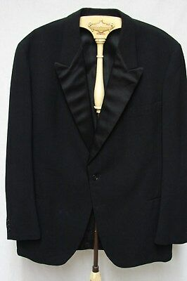 1950s Vintage FORMAL BLACK SATIN LAPEL BLAZER JACKET