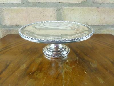 Nice vintage  small serving or Dressing Table Tray bowl Silver Plated on Copper
