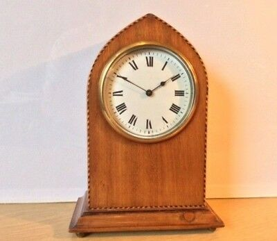 Vintage Lancet Top Solid Wooden Bracket Shelf Clock with Platform Escapement