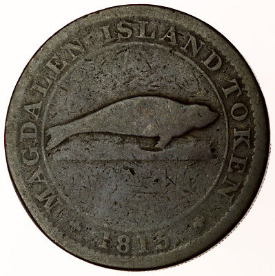 1815 Magdalen Island Penny Token ~ Canada LC-1 ~ Success To The Fishery ~ Scarce