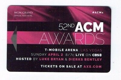ACM Awards - MGM GRAND Room KEY Casino LAS VEGAS - Luke Bryan & Dierks Bentley