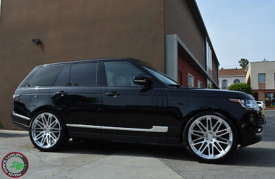 """24"""" Wheels For Range Land Rover HSE Sport 24x10 Machined Silver (Set of 4 Rims)"""