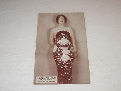 Vintage 1920's Aileen Pringle in His Our  Exhibit Post Card VG