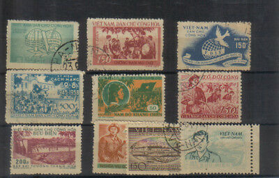 North Vietnam 1956-58 Small used collection