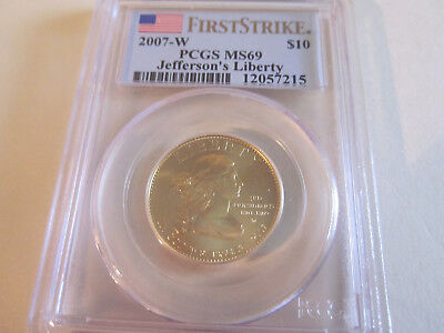 2007-W Jefferson's Liberty PCGS MS69 First Strike-Uncirculated-1st Spouse Series