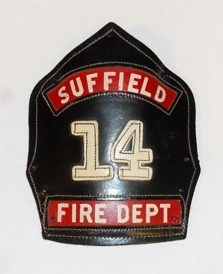 Leather Usa Firefighter Helmet Shield - Suffield Hartford County Connecticut