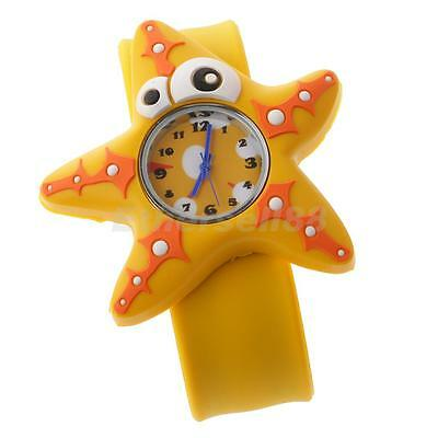 Cute Starfish Designed Slap Watch Silicone Band Watches Kids Christmas Gift