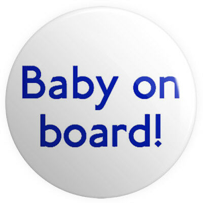 Baby on Board! BUTTON PIN BADGE 25mm 1 INCH Pregnant London Tube Font Mother