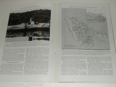 1949 magazine article on ANGEL FALLS, Venezuela, Jungle expedition, color photos