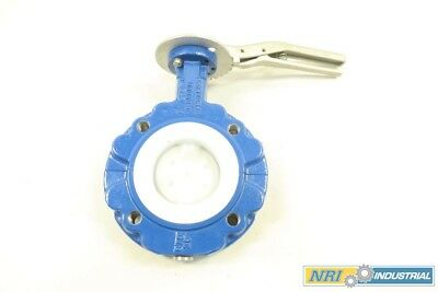 New Technova Bfvb2Dn80 3 In Manual Iron Flanged Butterfly Valve 150 D580869